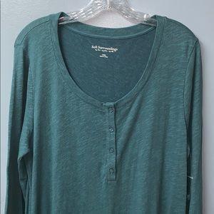 Soft Surroundings Riley Dress Shirt Size L NWNT